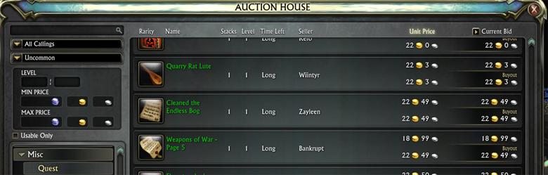 auction house limit header