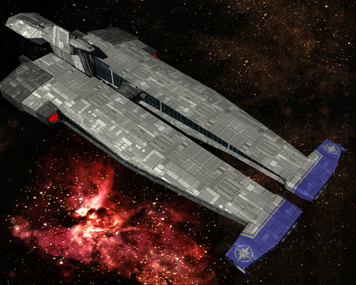 Wing Commander's TCS Midway, built by Sean Murphy