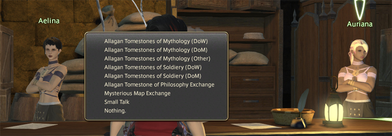 ffxiv endgame checklist Aelina and Auriana