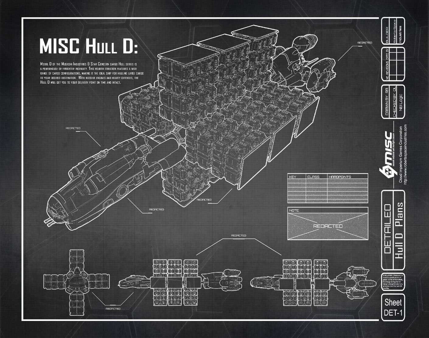3b9d1 Star Citizen Hull D Blueprint A Hull for every job : The MISC Hull Series