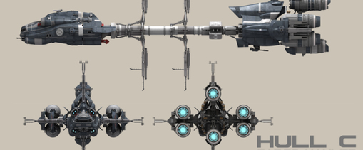 6cd81 Star Citizen HullC Side elevation A Hull for every job : The MISC Hull Series