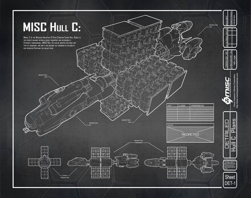 6cd81 Star Citizen Hull C Blueprint A Hull for every job : The MISC Hull Series