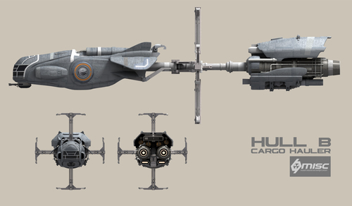 6d8fe Star Citizen HullB Front Elevation A Hull for every job : The MISC Hull Series