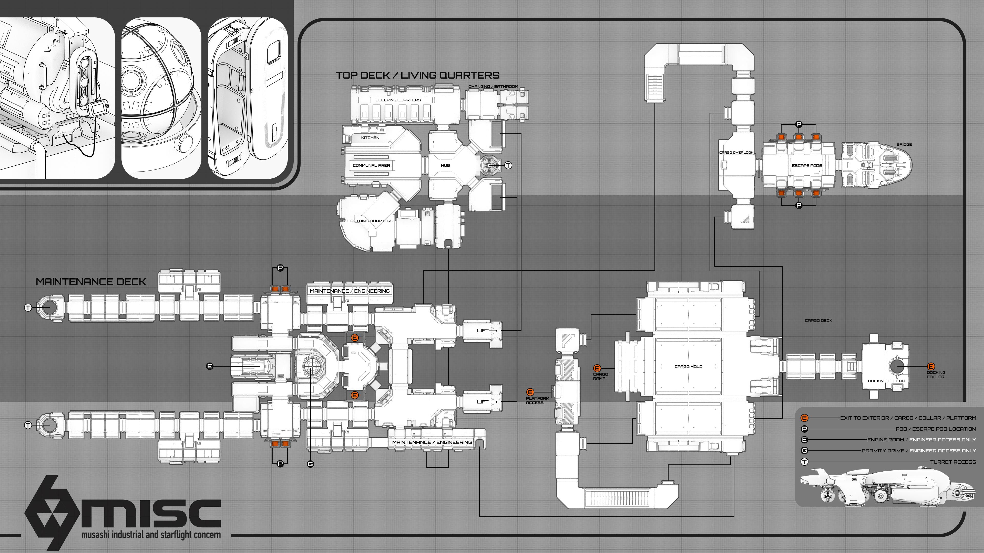 77482 Star Citizen Starfarer map Massive Hauling : the MISC Starfarer