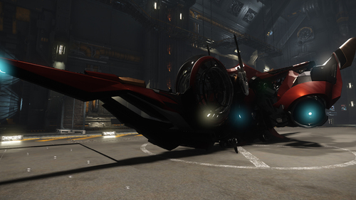 8c080 Star Citizen Scout hangar2 Available Now: Aegis Sabre and XiAn Scout