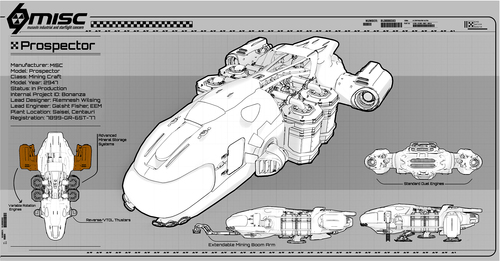 c9b53 Star Citizen MISC Prospector Blueprint 1 MISC Prospector Unearthed