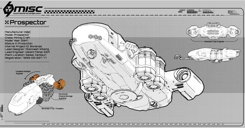 e1d78 Star Citizen MISC Prospector Blueprint 2 MISC Prospector Unearthed