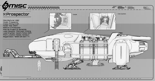 e1d78 Star Citizen MISC Prospector Blueprint 3 MISC Prospector Unearthed