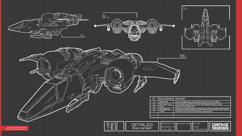 42c5f Star Citizen BluePrints BUCKY V04 The Drake Buccaneer Sets Sail