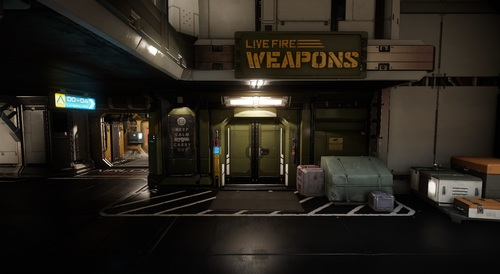 Weapon Shop on Port Olisar