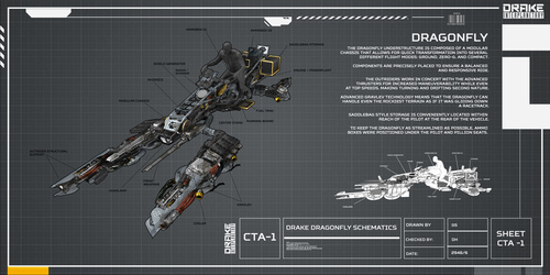 29aab Star Citizen Drake Dragonfly Schematic 03 Drake Dragonfly Q&A Part 2