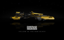 4e384 Star Citizen Dragonfly Side Angle Yellow 01 Hatching the Drake Dragonfly