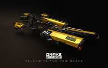 4e384 Star Citizen Dragonfly Threequarter Angle Yellow 01 Hatching the Drake Dragonfly