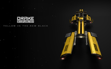 72292 Star Citizen Dragonfly Top Angle Yellow 01 Hatching the Drake Dragonfly