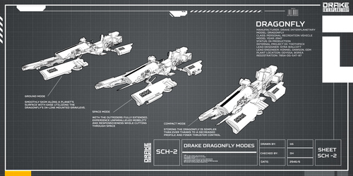 812b5 Star Citizen Drake Dragonfly Modes Hatching the Drake Dragonfly