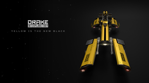 e9ba8 Star Citizen Dragonfly Top Angle Yellow 01 Hatching the Drake Dragonfly