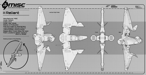 6e035 Star Citizen MISC Reliant Blueprint 3 Reliant Kore