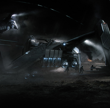 7e595 Star Citizen Esperia Prowler SHOT 02b Intergalactic Aerospace Expo, Day Five: Anvil