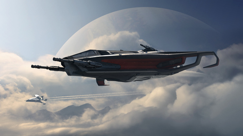 e858d Star Citizen Flight Copy The Anvil Hurricane