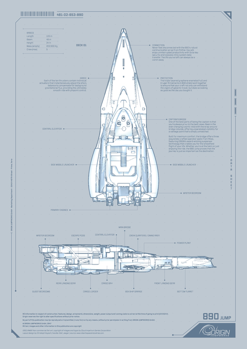 4b172 Star Citizen DataSheet ORIGIN 890 Jump This Week in Star Citizen