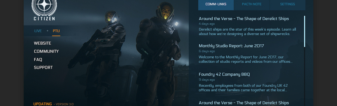 77620 Star Citizen Launcher 02 Monthly Studio Report: July 2017