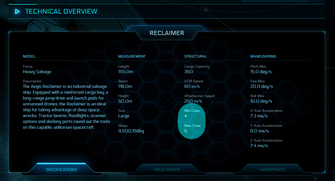 603ba Star Citizen Reclaimer minmax The Shipyard: Ship Technical Information