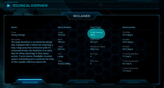 f8748 Star Citizen Reclaimer cargo The Shipyard: Ship Technical Information
