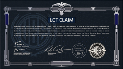 410fa Star Citizen Certificate LOT 4x4 Q&A: UEE Land Claim Licenses Part 2